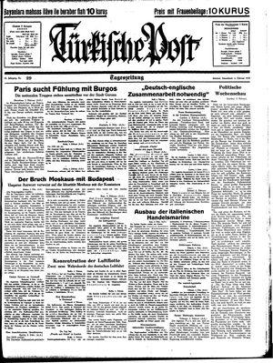 Türkische Post vom 04.02.1939