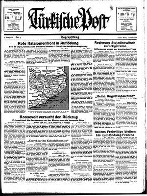 Türkische Post vom 06.02.1939