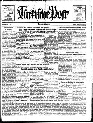 Türkische Post vom 07.02.1939
