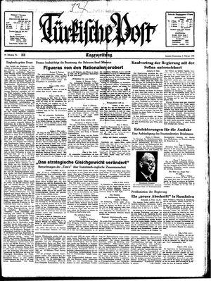 Türkische Post vom 09.02.1939