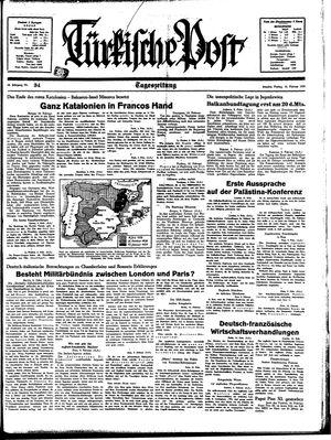 Türkische Post vom 10.02.1939