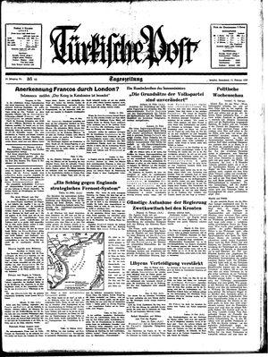 Türkische Post vom 11.02.1939