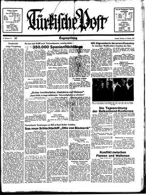 Türkische Post vom 14.02.1939