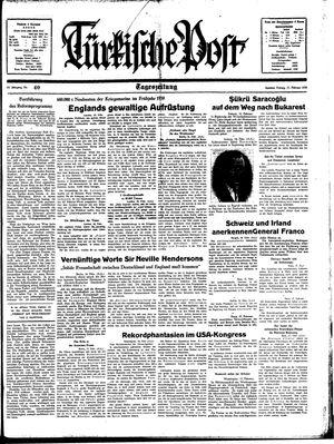 Türkische Post vom 17.02.1939