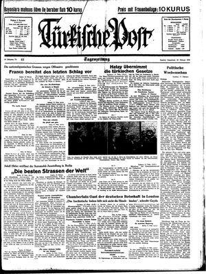 Türkische Post vom 18.02.1939