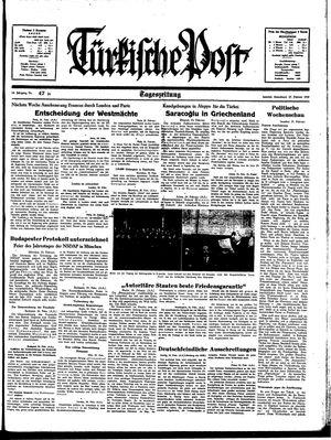 Türkische Post vom 25.02.1939