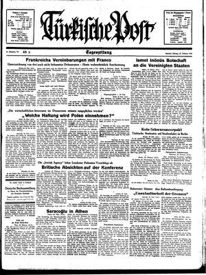 Türkische Post vom 27.02.1939