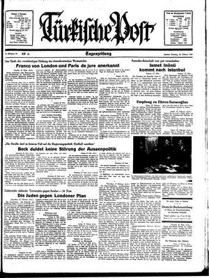 Türkische Post vom 28.02.1939