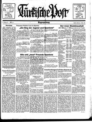 Türkische Post vom 01.03.1939