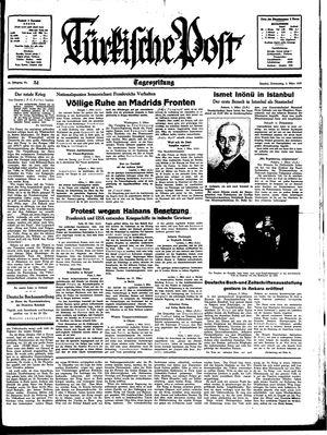 Türkische Post vom 02.03.1939