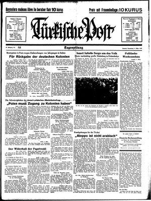 Türkische Post vom 04.03.1939