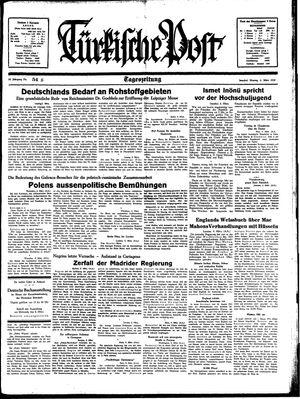 Türkische Post vom 06.03.1939
