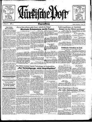 Türkische Post vom 09.03.1939