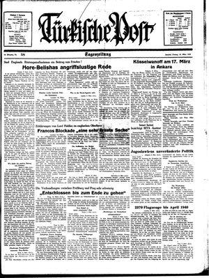 Türkische Post vom 10.03.1939