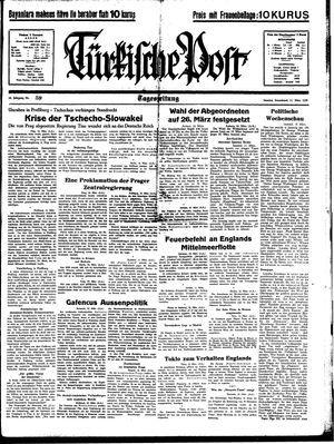 Türkische Post vom 11.03.1939