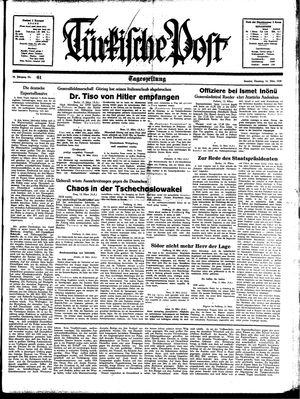 Türkische Post vom 14.03.1939