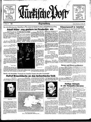 Türkische Post vom 16.03.1939