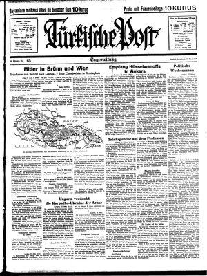 Türkische Post vom 18.03.1939
