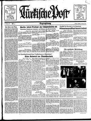 Türkische Post vom 20.03.1939