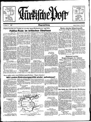 Türkische Post vom 21.03.1939