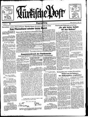 Türkische Post vom 22.03.1939