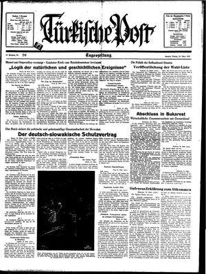 Türkische Post vom 24.03.1939