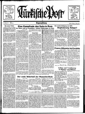 Türkische Post vom 27.03.1939