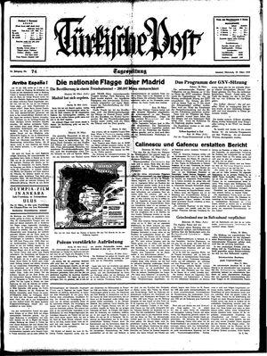 Türkische Post vom 29.03.1939