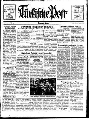 Türkische Post vom 30.03.1939
