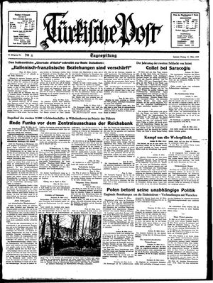Türkische Post vom 31.03.1939