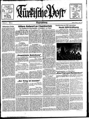 Türkische Post vom 03.04.1939