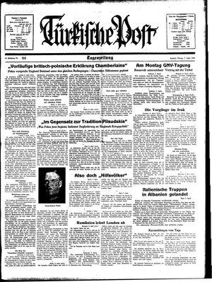 Türkische Post vom 07.04.1939