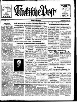 Türkische Post vom 11.04.1939