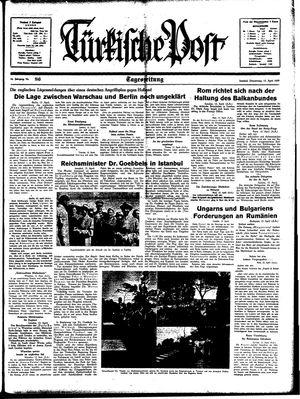 Türkische Post vom 13.04.1939