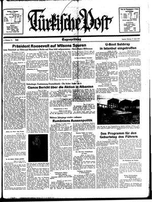 Türkische Post vom 17.04.1939