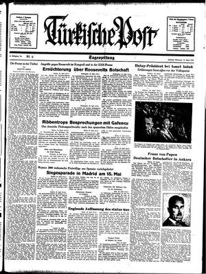 Türkische Post on Apr 19, 1939