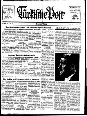 Türkische Post vom 20.04.1939