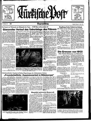 Türkische Post vom 21.04.1939