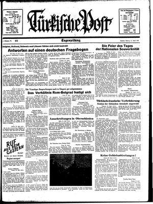 Türkische Post vom 24.04.1939