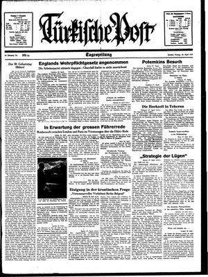 Türkische Post vom 28.04.1939