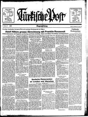Türkische Post vom 29.04.1939
