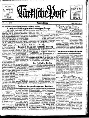 Türkische Post vom 02.05.1939