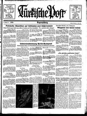 Türkische Post vom 03.05.1939