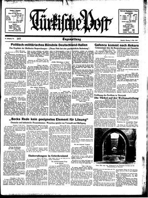 Türkische Post vom 08.05.1939