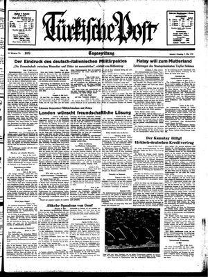 Türkische Post vom 09.05.1939
