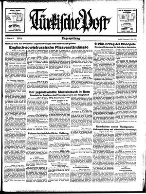 Türkische Post vom 11.05.1939
