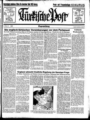 Türkische Post vom 13.05.1939