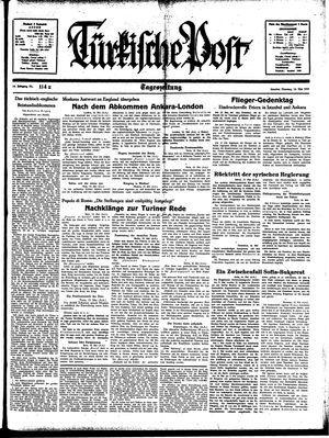 Türkische Post vom 16.05.1939
