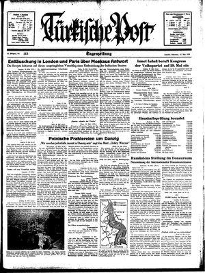 Türkische Post vom 17.05.1939