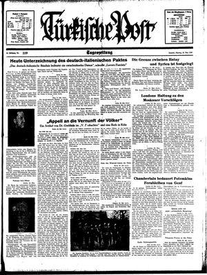 Türkische Post vom 22.05.1939
